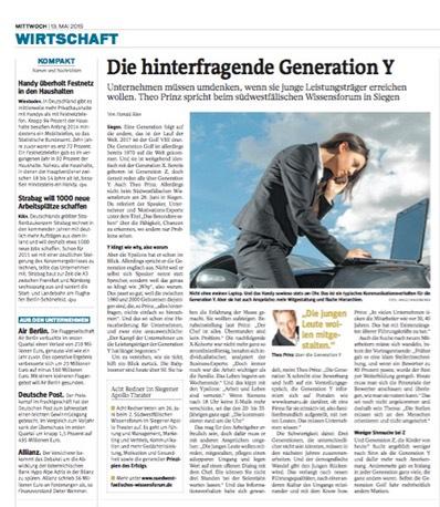Bild zum Presseinterview Die hinterfragende Generation Y